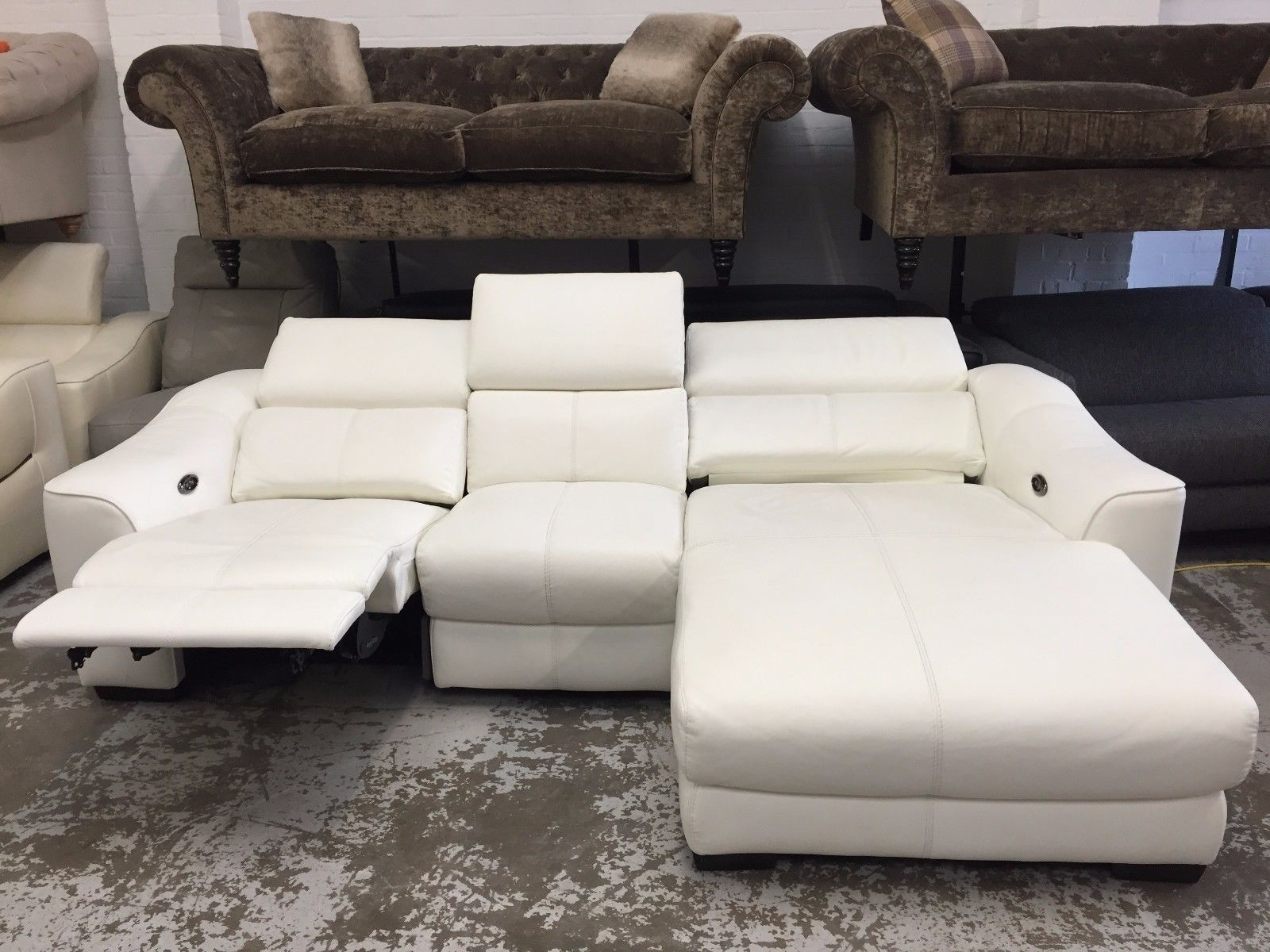 marco cream chaise sofa by factory outlet cheap deals uk ex display elixir electric 3 seater