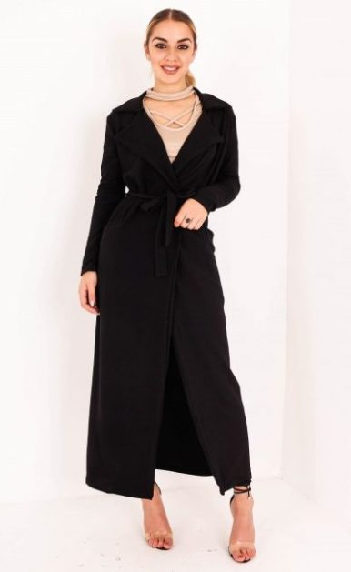 Black Belted Duster Coat 1 (2)