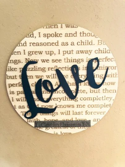 love wall sign laser engraved