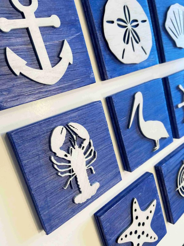 nautical decor ocean decor laser engraved