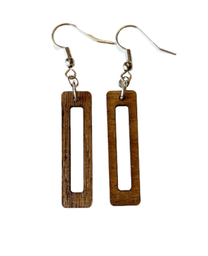 laser cut statement dangle earrings