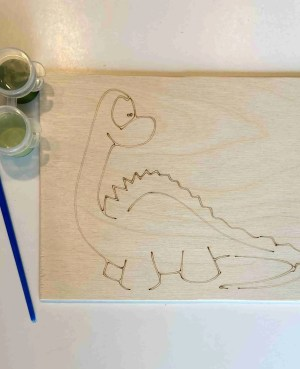 dinosaur paint kit laser traced outlines