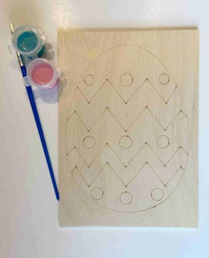 Easter egg paint kit laser traced outlines