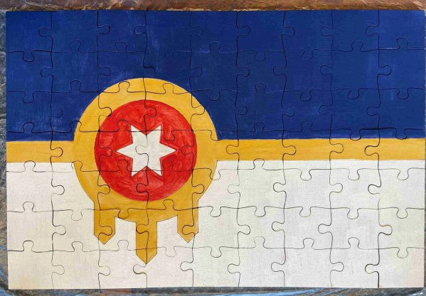 Tulsa flag puzzle paint kit