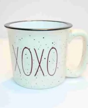 Valentine's XOXO love camp coffee mug