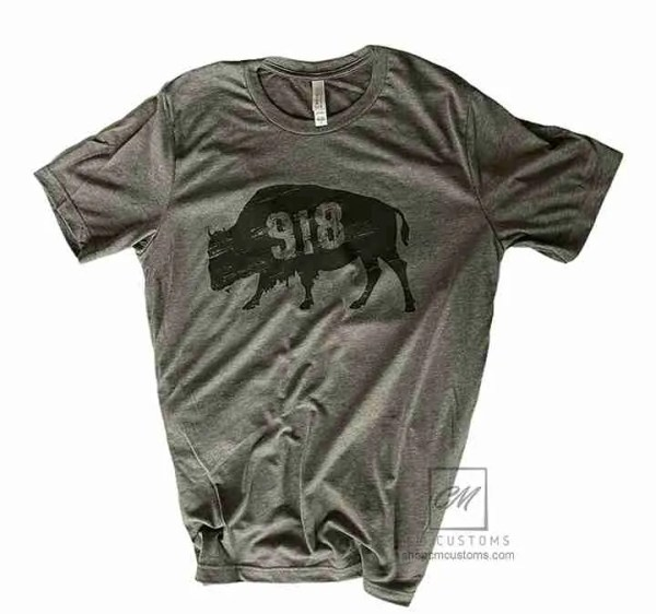 918 buffalo t-shirt grey feminine