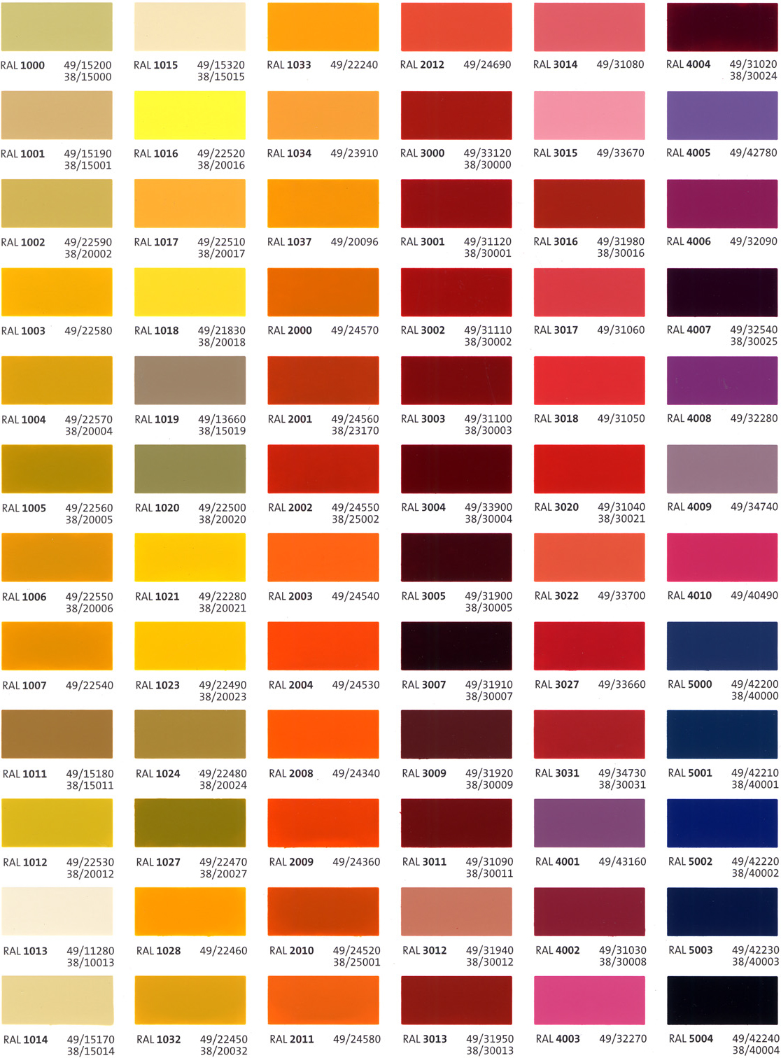 Custom Color Options  SHOPCO USA Inc