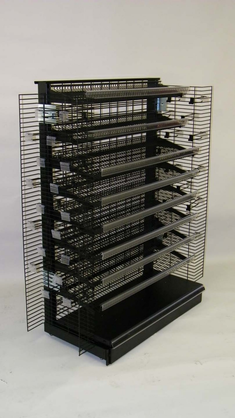 Wire Grid Gondola Shelving  SHOPCO USA Inc