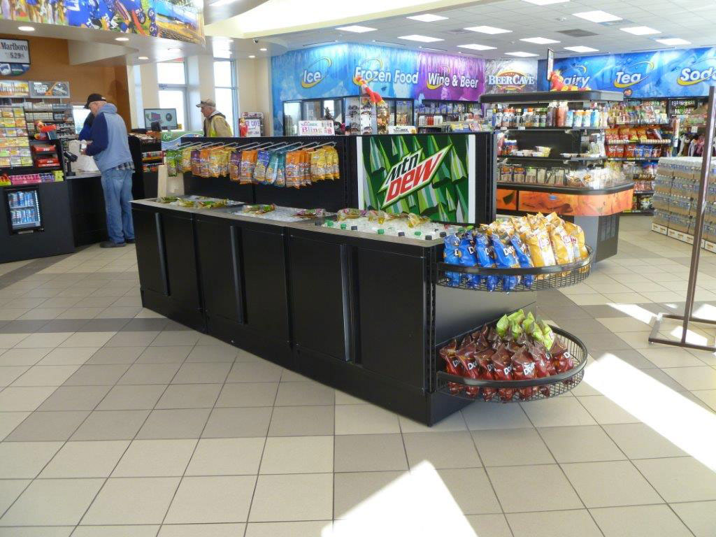 Metal Cabinets and Food Service Counters for Convenience