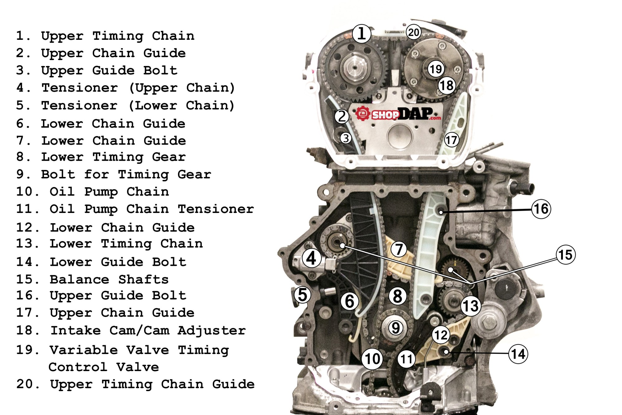 hight resolution of 2 0t tsi timing chain component diagram for vw and audi articles2 0t tsi timing chain