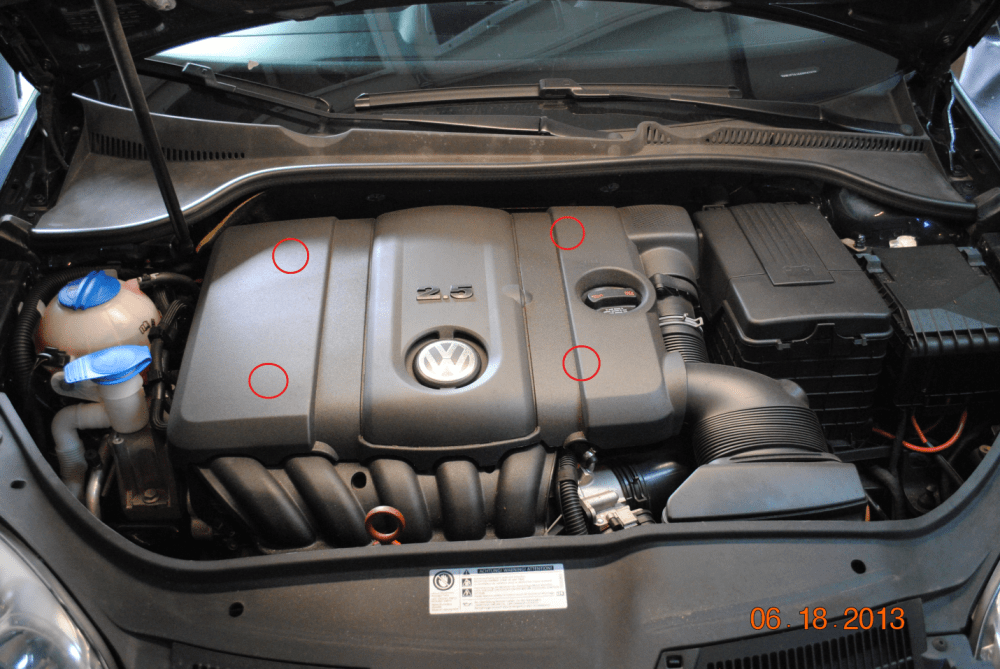 medium resolution of vw 2 5l 5 cylinder valve cover diy