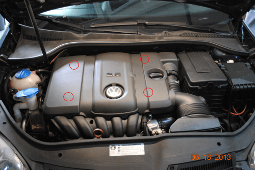 small resolution of vw 2 5l 5 cylinder valve cover diy