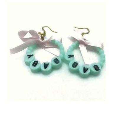 mint green baby earrings
