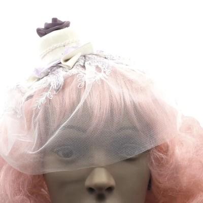 purple wedding veil front