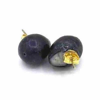 large black pearl earrings