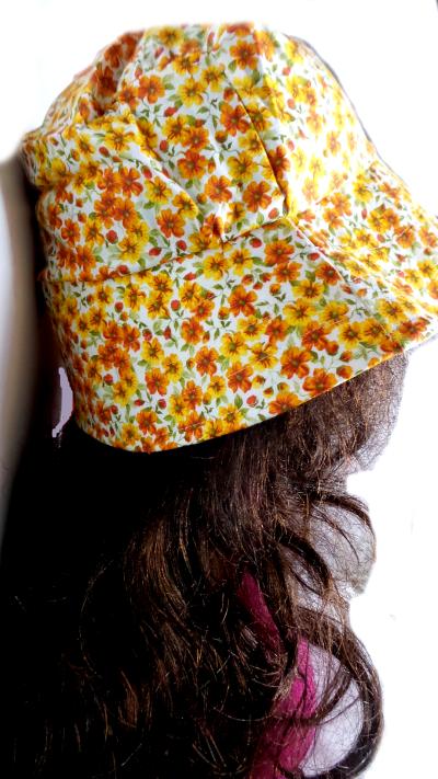 Cottagecore sun hat side