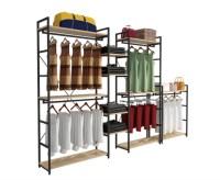 Modern Style Clothing Shop Display Racks Wall Mounted ...