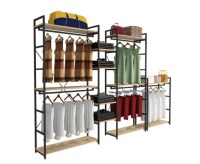 Modern Style Clothing Shop Display Racks Wall Mounted ...