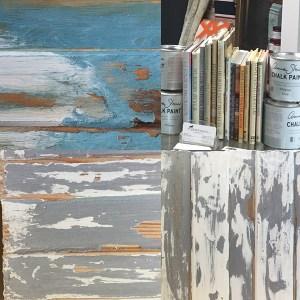 Annie Sloan Chalk Paint and Clear Soft Wax Resist