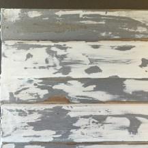 Pure White over Paris Grey Wax resist