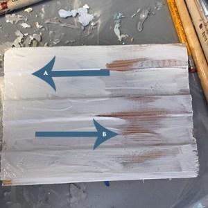 Annie Sloan Chalk Paint Wax Resist Steps 1 and 2