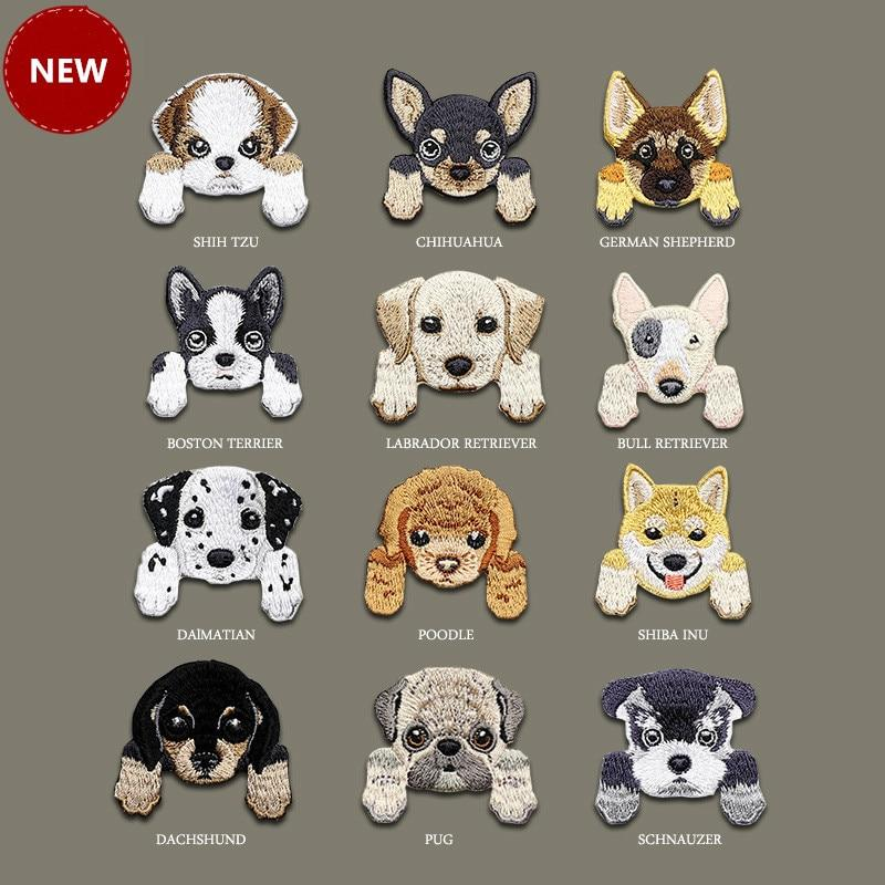 1 Piece Cute Dog patch baby/'s clothing patches backpack decoration small appliqu