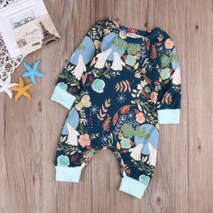 1pc Cute Newborn Baby Boy Girl Clothes Long Sleeve Romper Cotton Cute Jumpsuit Cute Baby Girls Outfit - ShopeeBazar