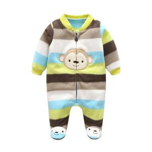 3M-12M Baby Rompers Winter Warm Fleece Clothing Set for Boys Girls Clothes Jumper - ShopeeBazar