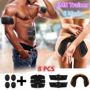 6 Mode Smart Electric muscle stimulator Abdominal ABS ems Hip Trainer fitness Buttocks Shaper Weight loss slimming Massage - ShopeeBazar