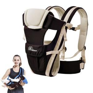 0-30 Months Breathable Front Facing Baby Carrier 4 in 1 Backpack Pouch Wrap - ShopeeBazar
