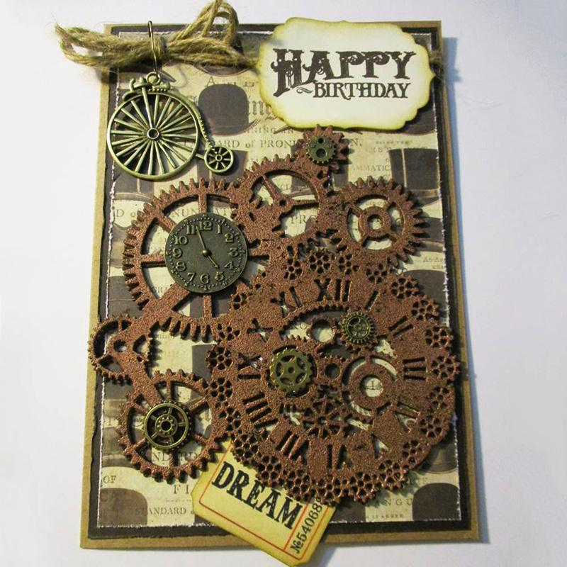 Steampunk Dies Gear Cutting Dies Frame Background Craft Die Metal Cutting Dies