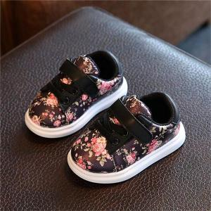 2018 Cute Flower Baby Girls Shoes Comfortable Leather Kids Sneakers - ShopeeBazar