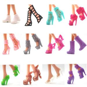 12 pairs Shoes Fashion Cute Colorful Assorted for Barbie Doll - ShopeeBazar