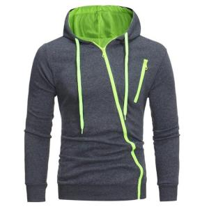 Autumn Fashion Casual Solid Hoodies Polluver Sweatshirt Men Hooded - ShopeeBazar