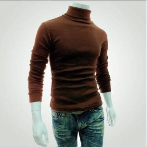2018 New Autumn Winter Men'S Sweater Men'S Turtleneck Solid Color - ShopeeBazar