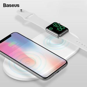 2 in 1 Wireless Charger For iPhone X XS Max XR Apple Watch 4 3 2 Samsung S8 S9 10W Fast Wireless Charging Pad - ShopeeBazar