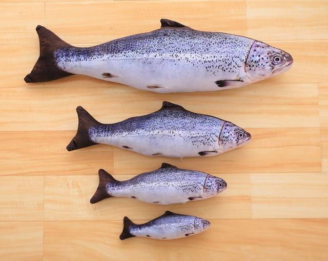 Fish Shaped Salmon Body Pillow From