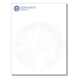 Elks USA 2 color with faux watermark letterhead-Specialty