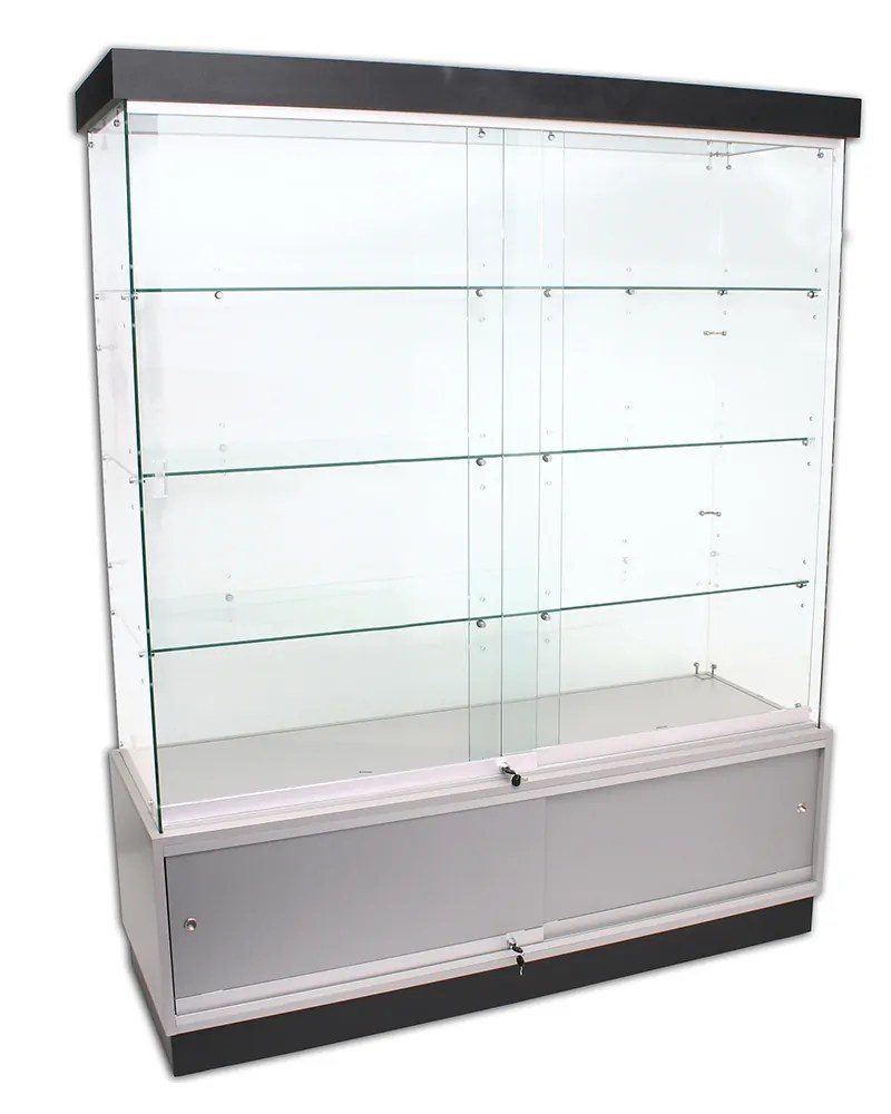 Deluxe Frameless Display Cabinet With Storage