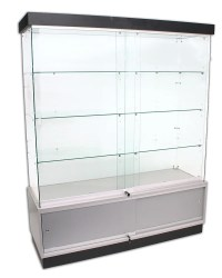 Deluxe Frameless Display Cabinet With Storage ...