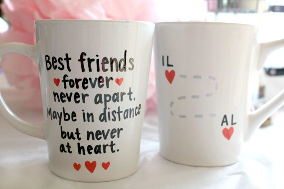 Valentine's Day Gift Ideas for Her: BFF Coffee Mugs