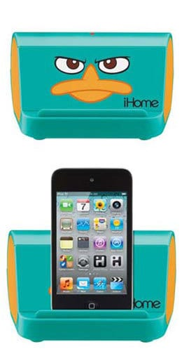 Phineas and Ferb Portable Speaker System - FantabulouslyFrugal.com 2012 Holiday gift Guide - #giftguide