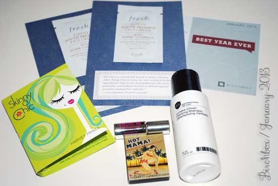 Birchbox Review - January 2013 Box