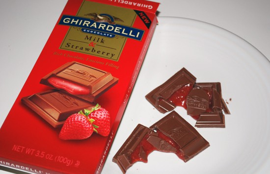 Ghirardelli Milk Chocolate and Strawberry Candy Bar