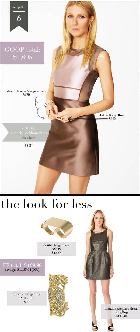 GOOP Look 6 - Get Gwyneth Paltrow's net-a-porter looks for less