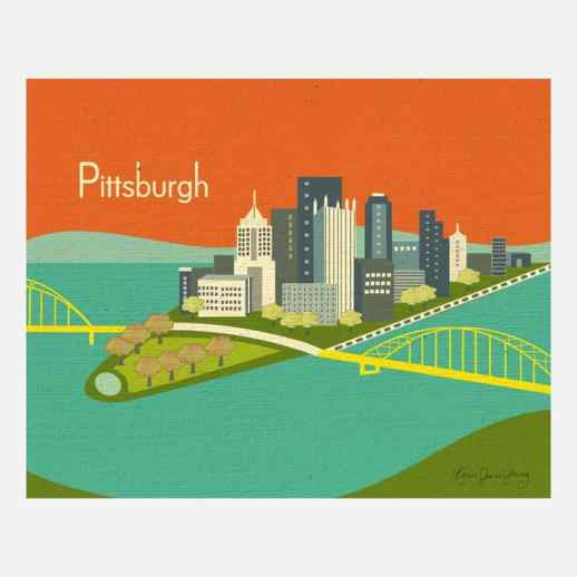 Pittsburgh Print by Loose Petals