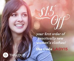 ThredUp Women - Free $15 shopping credit
