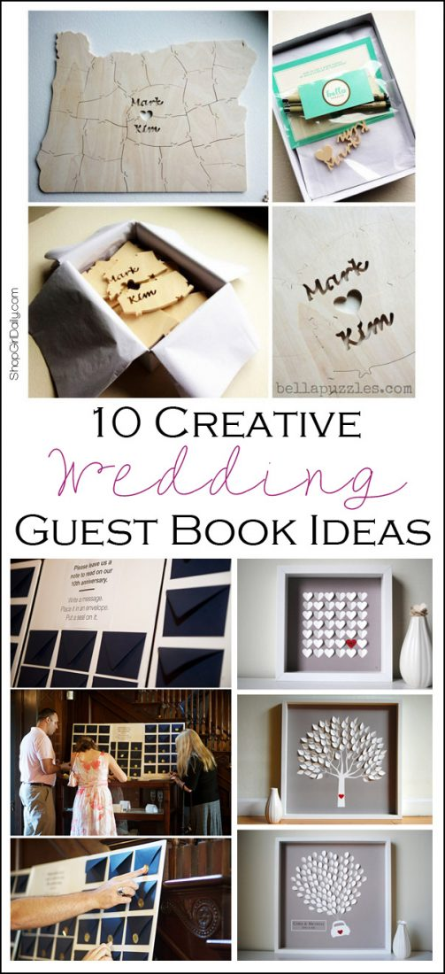 If you want a fun and creative wedding guest book, here are 10 ideas that are anything but ordinary! | ShopGirlDaily.com