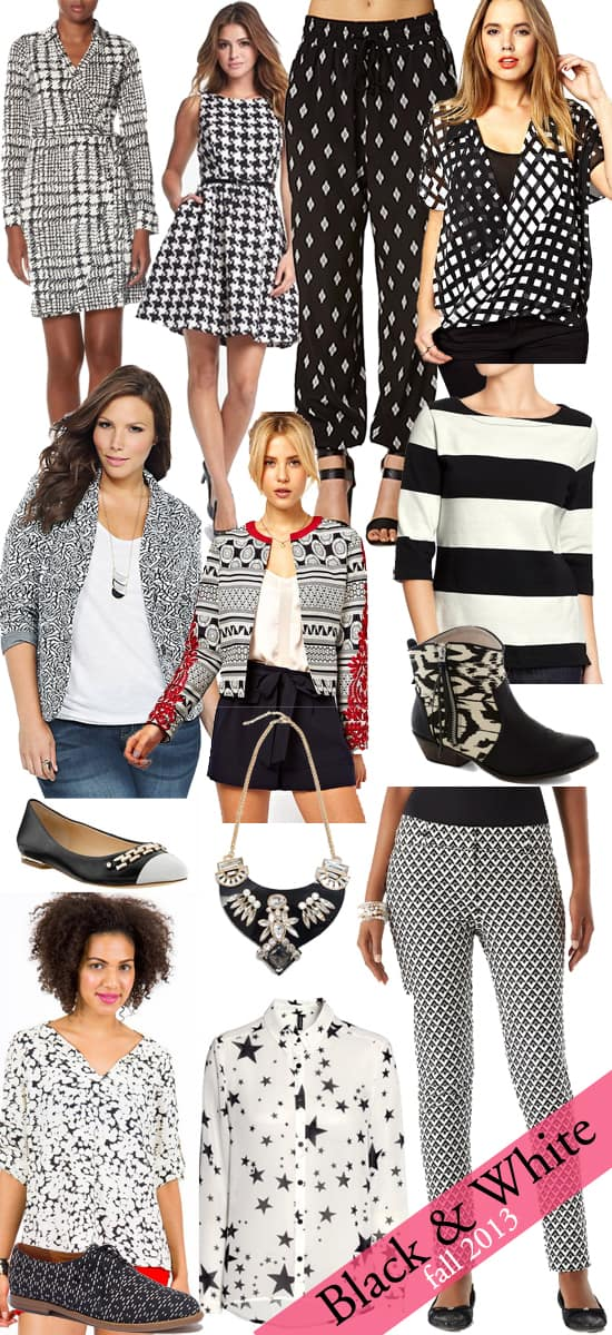 Black and White Prints for Fall 2013