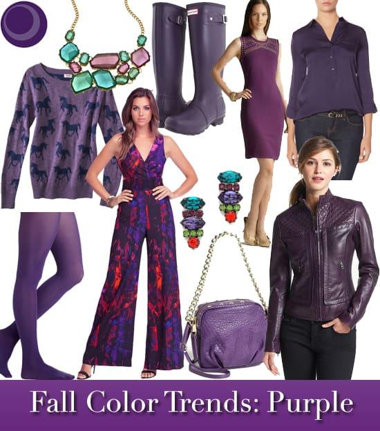 Fall 2013 Color Trends: Purple